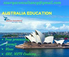 Study in Australia  contact - sowrya consultancy www.sowrya.com