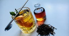 Get the recipe for a classic Manhattan cocktail that uses hojicha tea syrup, courtesy of chef Tracy Chang from Pagu in Boston.
