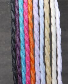 #paper #paperyarn #string #colour  We love all things paper, and we use paper yarn for our letter banners  black, purple, blue, pink, orange, lilac, pale blue, sand, cream, white  Letter banners in our store paperstreetdolls.etsy.com Handmade paper decorations by Paper Street Dolls