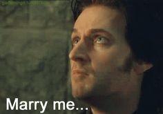 "(Gif) ""I will never marry you Guy of Gisborne. I'm going to marry Robin Hood...I love Robin Hood."""