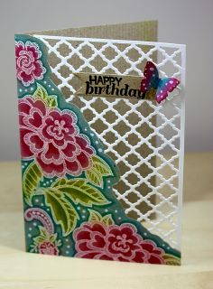 Floral Birthday Lattice By Newkidfish Cathy A Via Flickr Card Making Tutorials