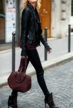 Street style.. Tough girl