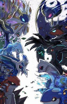 I bet you Sword doggo can beat all these legendaries Pokemon Mew, Rayquaza Pokemon, Pokemon Luna, Pokemon Dragon, Pokemon Comics, Pokemon Fan Art, Lugia, Pokemon Stuff, Charizard