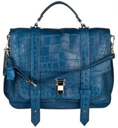 gah! blue! and snake skin! and satchel!