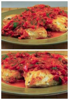 Traditional Sauteed Chicken Breasts Recipe with Warm Tomato-Tarragon Salsa; this is a great ...