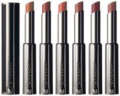 Givenchy Le Rouge-a-Porter: N°101 Nude Ultime, N°102 Beige Mousseline, N°103 Beige Plumetis, N°104 Beige Floral, N°105 Brun Vintage, N°106 Parme Silhouette