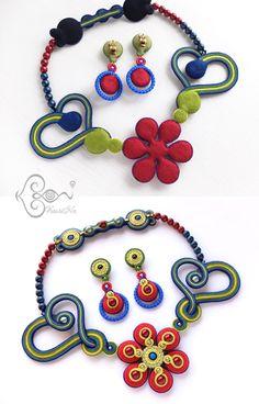 KaoriNa. <カオリナ>ソウタシエ刺繍アート♪ ソウタシエを用いたコード刺繍アクセサリーを制作しています。