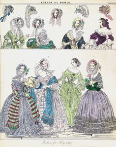 """""""For example, a hand-coloured engraving from The London and Paris Ladies' Magazine of Fashion of July 1840 shows a pretty but toxic light green evening dress (no. 3, third from the left on the bottom) (Fig. 6). although it is undocumented, the women and children colouring these plates may well have suffered from arsenic poisoning, particularly since many painters licked their brushes to get a fine point..."""" #FashionVictims  #arsenic #halloween #prettybutpoisonous"""