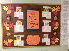 pumpkin recipes ideas for a fun fall themed October bulletin board!