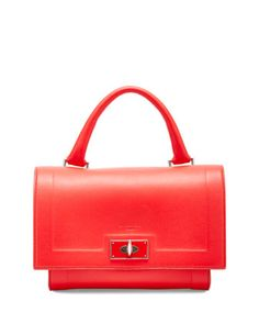 Shark Small Waxy Satchel Bag, Red by Givenchy at Neiman Marcus.