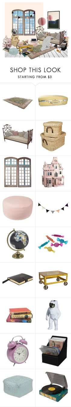 """Imagination station"" by silviatanav ❤ liked on Polyvore featuring interior, interiors, interior design, home, home decor, interior decorating, American Tourister, Laura Ashley, Dollhouse and Broste Copenhagen"