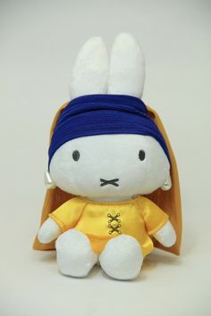 [well... only in Japan?] -- Miffy with the Pearl Earring !?! - merchandise developed for the Mauritshuis' Exhibition in Japan, where the Girl with the Pearl Earring is exhibited for the first time since 2000