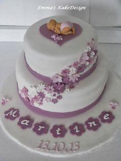 Emmas KakeDesign: Enkel og flott dåpskake