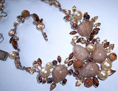 christian dior jewelry | ... Designer Signed Christian Dior Necklace and Earrings Demi Parure