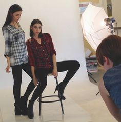 Playing with Plaid in our latest E-Commerce photoshoot!