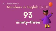 Numbers in English (from 0-1000) Free Youtube, English Words, English Vocabulary, Numbers
