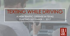 Texting While Driving in Texas | Texas' New Traffic Law