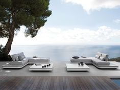 Sectional modular garden sofa ELEMENTS Elements Collection by MANUTTI | design Gerd Couckhuyt