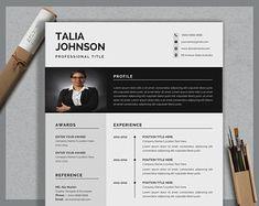 Resume template instant download resume template wordresume | Etsy Teaching Resume Examples, Sales Resume Examples, Resume Objective Examples, Resume Action Words, Resume Words, Nursing Resume, Hr Resume, Resume Help, Dance Resume