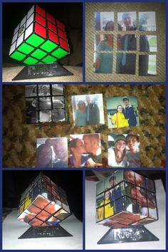 Picture rubik's cube. Gift for boyfriend.