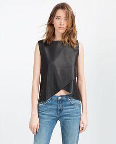 Imagem 2 de TOP DUAS CAMADAS POLIPELE da Zara