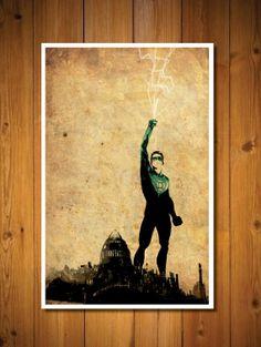 Green Lantern poster Superhero Poster, Comic Poster, Comic Art, Comic Books, Dc Comics, Green Lanterns, Simple Poster, Poster Series, Nerd Love