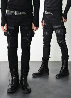 Combat Cargo pants menswear post apocalyptic fashion health goth streetwear neo punk futuristic style