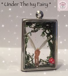 Tiny Under The Ivy Fairy Keyring with pearlescent wings From Mini Moments by Jamielee© Www.fb.com/minimomentsbyjamielee