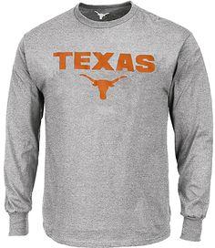 Texas Longhorns Adult Grey Reacher Long Sleeve Tee Shirt by 289c Apparel $24.95