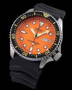 SEIKO Diver SKX011J1 Rubber Automatic Diver Watch Orologio 200m Japan Made RARO!