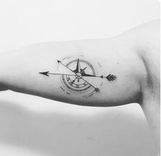 40 Geometric Compass Tattoo Designs for Men - Cool Geometry Ideas - Tattoo-Ide. 40 Geometric Compass Tattoo Designs for Men - Cool Geometry Ideas - Tattoo-Ideen - Simbols Tattoo, Bicep Tattoo Men, Inner Bicep Tattoo, Forearm Tattoos, Sleeve Tattoos, Small Compass Tattoo, Compass Tattoo Design, Arrow Tattoo Design, Mandala Tattoo Design