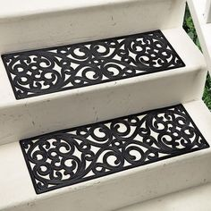Love this for the steps leading into the house in the garage! French Quarter Rubber Stair Treads $14.99 - $16.99