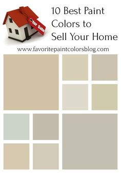 Best Paint Colors to Sell Your Home (Favorite Paint Colors) Neutral Paint Colors, Neutral Color Scheme, Exterior Paint Colors, Paint Colors For Home, House Colors, Color Schemes, Stain Colors, Room Colors, Wall Colors