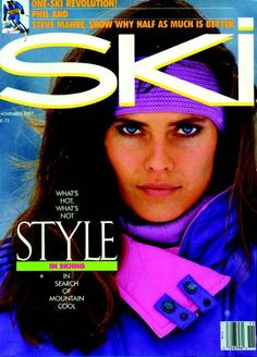 November 1987. Carol Alt on the cover of SKI.