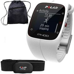Polar 90051345  M400 GPS Training Companion with Heart Rate with Bag  White ** Check out this great product.(This is an Amazon affiliate link and I receive a commission for the sales)