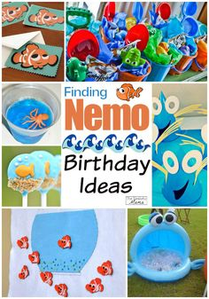 """We all fell in love with the adorable clown fish and movie """"Finding Nemo"""". Now with """"Finding Dory"""" releasing in June of 2014 we know it will be the perfect summer party theme or birthday theme hit! Check out these Finding Nemo & Finding Dory Inspired Birthday Ideas!"""