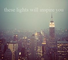 I <3 New York city lights- I hope this will be the view from my home some day.