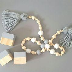 Timber bead garland