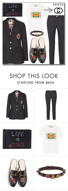 """GUCCI"" by zhris ❤ liked on Polyvore featuring Gucci"