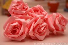 Роза из бумаги - необычный способ