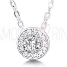 Diamond cluster pendant @ www.diamondsandrings.co.uk