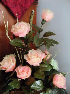 Hecho a mano Nylon Arreglo floral por LiYunFlora en Etsy