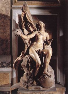 Truth Unveiled by Time, marble sculpture by Gian Lorenzo Bernini. Executed between 1646 and 1652. Galleria Borghese, Rome, Italy