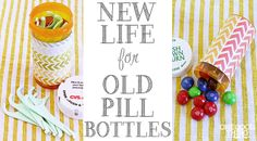 17 Ways to Repurpose Prescription Pill Bottles by One Good Thing by Jillee. Over the years different illnesses and medical conditions in our home have left us with a cupboard full of empty UNRECYCLABLE prescription bottles. As you may know from past posts like this one: (