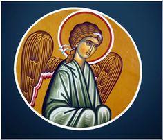 Ο Άγγελος ήταν πάντοτε παρών, μέχρι πού τελείωσε και την Κατάλυση..... Byzantine Art, Christian Art, Icons, Color, Catholic Art, Symbols, Colour, Ikon, Colors