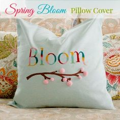 Spring Bloom Pillow Cover tutorial at diyshowoff.com