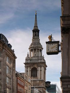 London's best buildings by Sir Christopher Wren.  St Mary-le-Bow