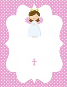 Invitaciones de BAUTIZO para Niño y Niña Bonitas y Originales Christening Invitations Girl, Baptism Banner, Baptism Cookies, First Holy Communion, Scrapbook Paper, Gift Tags, Party Invitations, Baby Gifts, Crafts For Kids