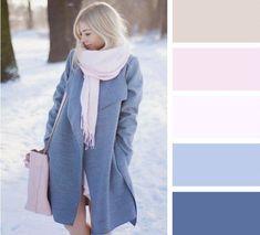 Оттенки зимы: 6 способов стильного сочетания самых модных зимних цветов