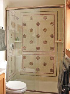 Custom Bath Remodel: Tile Shower Surround - Vanity: Persian Hexagonal Tiles